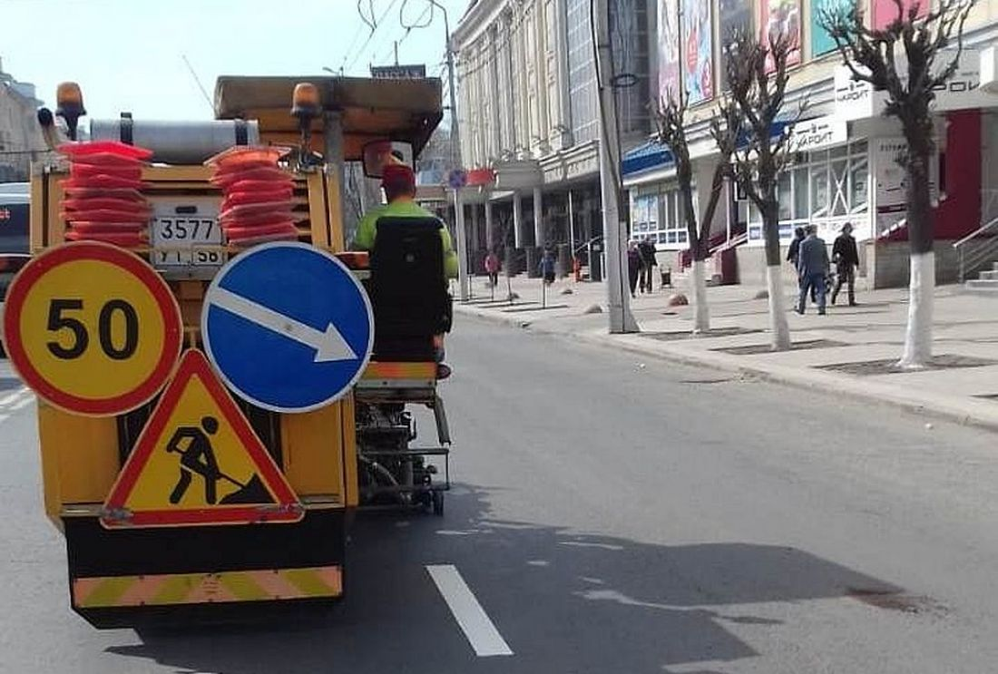 В Пензе дорожную разметку нанесут на 246 улицах