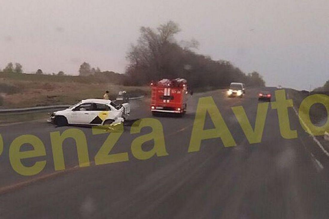 Водитель «Яндекс такси» выжил после жесткой аварии на пензенском участке трассы «Урал»