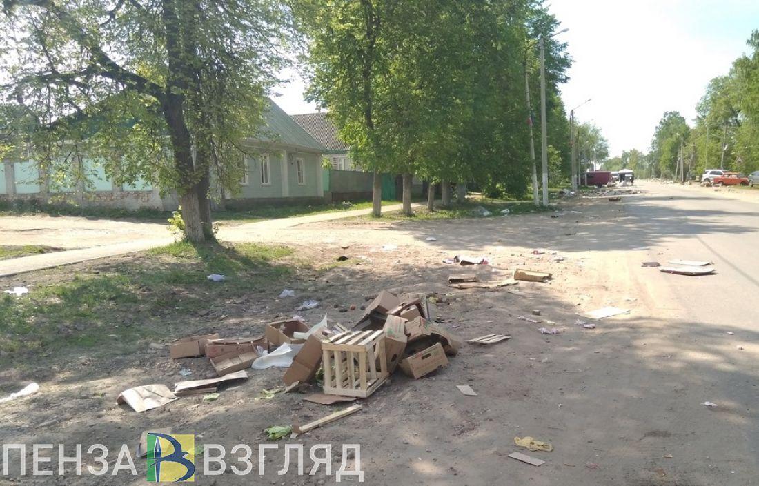 Мусорный апокалипсис. Центр города Белинский завалило коробками и картоном
